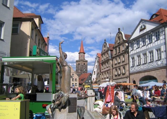Grafflmarkt in der Fürther Altstadt