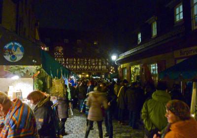 Der Waagplatz zur Altstadtweihnacht Fürth.