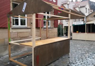 Fürther Altstadtweihnacht: Das Gerüst steht schon einmal!