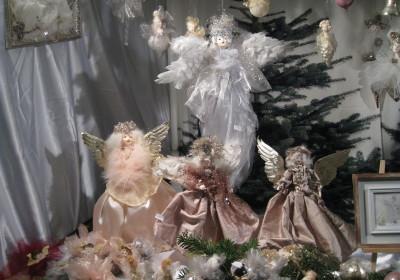 Schöne Engel zu kaufen auf der Altstadtweihnacht Fürth.