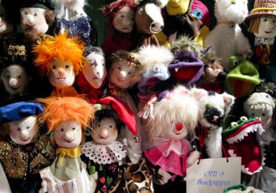 Schöne Kasperle-Puppen von Otti auf der Altstadtweihnacht Fürth