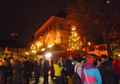 Altstadtweihnacht Fürth: vor der großen Bühne