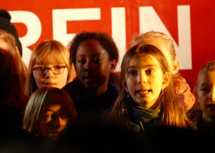 Der erste Chor auf der Altstadtweihnacht Fürth
