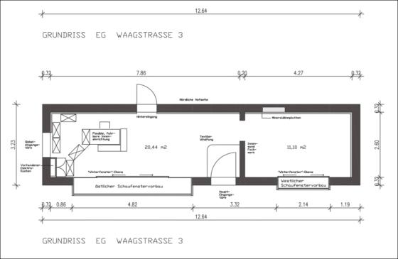 Grundriss des »Mariechens« (Grafik: Christofer Hornstein)
