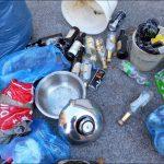 Mülleinsammeln durch eine Seniorengruppe der AWO Burgfarrnbach