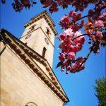 Frühling im Fürther Stadtpark mit unserer schönen Auferstehungskirche und Blumen Impression