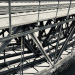 Netzwerk - alte Eisenbahnbrücke über die Regnitz, nahe Stadeln