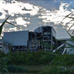 Vergangenheitsbewältigung - die ehemalige Müllverbrennungsanlage während des Abrisses